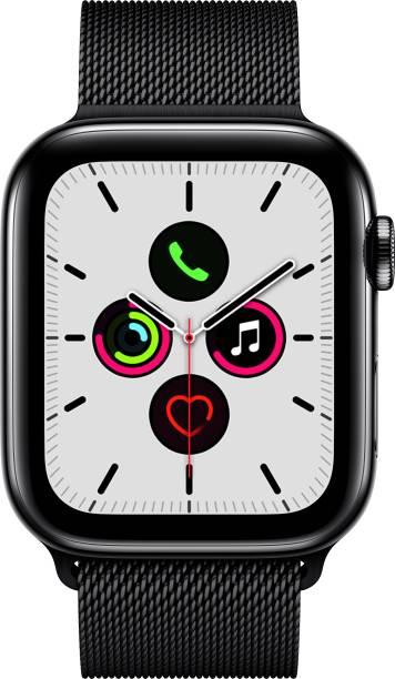 Apple Watch Series 5 GPS + Cellular 44 mm Space Black Stainless Steel Case with Space Black Milanese Loop